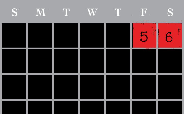 USS Nightmare November Calendar