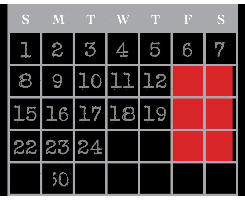 USS Nightmare September Calendar